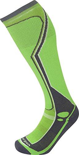 Lorpen Herren T3 Ski Midweight Socken, Grün/Limette, XL