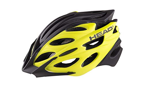 Head Bike Casco MTB W07 in-Mould, Bici Unisex Adulto, Giallo, Large