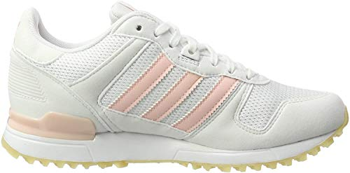 adidas Women's Zx 700 Low-Top Sneakers, White/Icey Pink, 3.5 UK