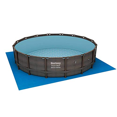 Bestway 15125 16ft x 48in Power Steel Round Frame Above Ground Pool Set & Pump