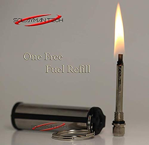 Survival Endless Match Box- Permanent Match- Forever Match- Emergency Fire Starter- Outdoor Survive Tool- Outdoor Emergency Flint Stone Lighter with Keychain for Camping Hiking BBQ (1)
