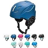 meteor Casco de Esquí y Snowboard para Niños Niñas Helmet para Jóvenes y Adultos (M 55-58 cm, LUMI Verde/Gris)