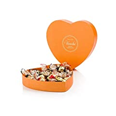 Idea Regalo - Venchi Romantica Scatola Regalo Cuore con Cioccolatini Assortiti - Senza Glutine, 230 g