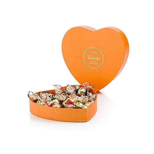 Venchi Scatola Regalo A Forma Di Cuore Con Cioccolatini Assortiti - Choccomousse E Dubledone - Senza Glutine - 230 Gr