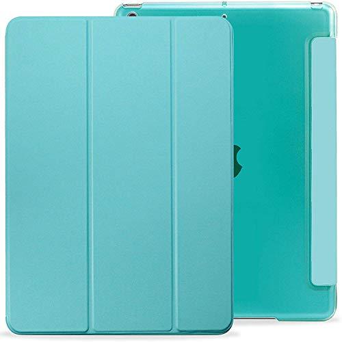 Khomo iPad 10.2 Case (iPad 7, 2019) Case behuizing met dubbele bescherming Smart Cover Case met siliconen achterkant - Mint Groen