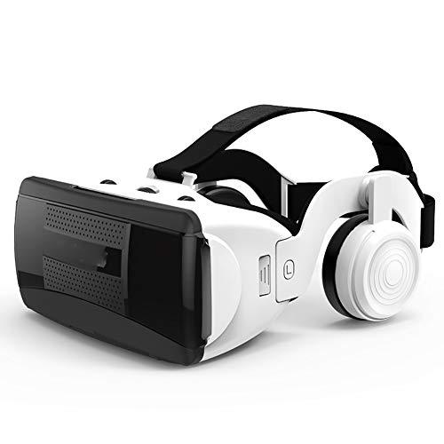 Lcme VR Headset, VR Goggles Box, VR Brille 3D-Virtual-Reality-Headset mit HiFi-Kopfhörer-Stereo VR Google Karton Headset Helm für Ios Android Phone