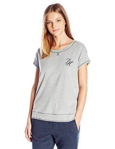 Tommy Hilfiger Women's Pullover Top Pajama Shirt Pj, Heather Grey, XS