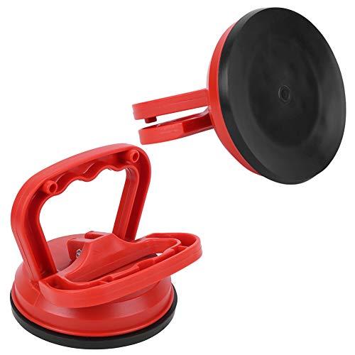 Copa de succión de vidrio, material avanzado de plástico de plástico de aluminio de trabajo pesado hecho plato de ventosa (rojo)