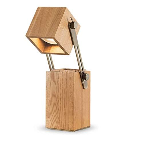 WYBFZTT-188 Nórdica de Madera sólida lámpara de Escritorio, lámpara de Escritorio Simple Estudio retráctil lámpara de Escritorio, Moderno Creatividad
