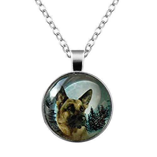 Halskette mit kleinem Elf Deutscher Schäferhund, I Love Dogs, Polizei, Arbeitshund, Welpe, Schäferhund, Intelligenz, einzigartiges Geschenk