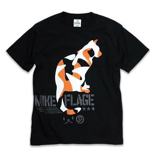 [スコーピー] ネコ好き のための 猫柄 Tシャツ MIKE-FLAGE ブラック L