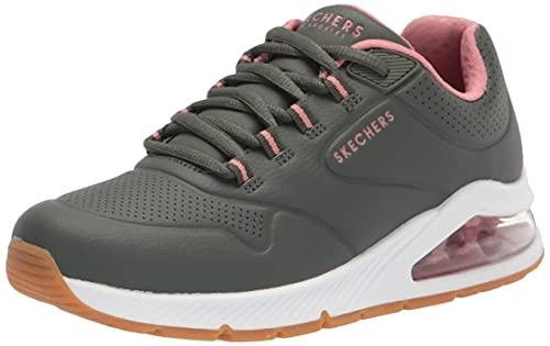 Skechers Uno 2 2nd Best, Zapatillas Mujer, Olive, 40 EU