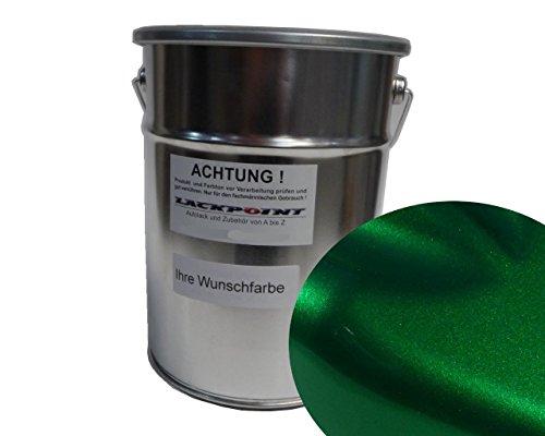Lackpoint 1 Liter Spritzfertig Wasserbasislack Candy Grün 2 Metallic Autolack