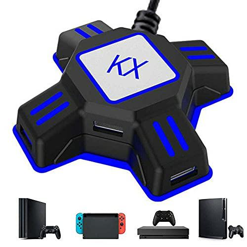 Conversor de ratón de teclado, adaptador de consola USB/tipo C compatible con Nintendo Switch, Xbox One, PS4 y PS3