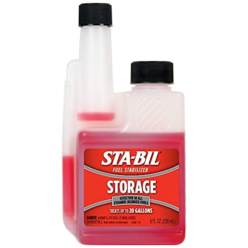 STA-BIL Storage Fuel Stabilizer - Guaranteed To Keep Fuel Fresh Fuel Up To Two Years - Effective In All Gasoline Including All Ethanol Blended Fuels - For Quick, Easy Starts, 8 fl. oz. (22208)