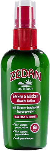 ZEDAN outdoor Bio ZEDAN outdoor Zecken & Mücken Abwehrlotion-Spray 100ml (2 x 100 ml)