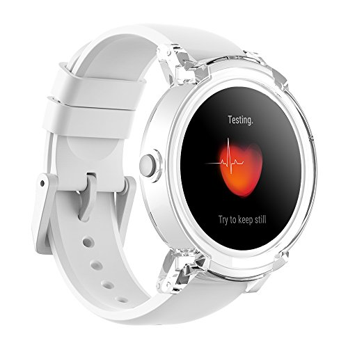 Ticwatch E Super Lightweight Smart Watch Ice,1.4 inch OLED Display, Android Wear 2.0,Compatible with iOS and Android, Google Assistant