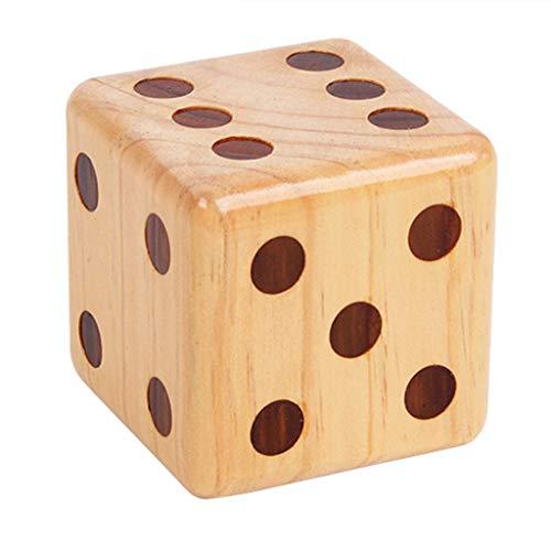 Bixmox Holz Würfel Set Große Spielwürfel Gaming Würfel Klassisches Spiel Spielzeug Zubehör für Kinder Party 9 X 9 X 9 cm (1 Stück)