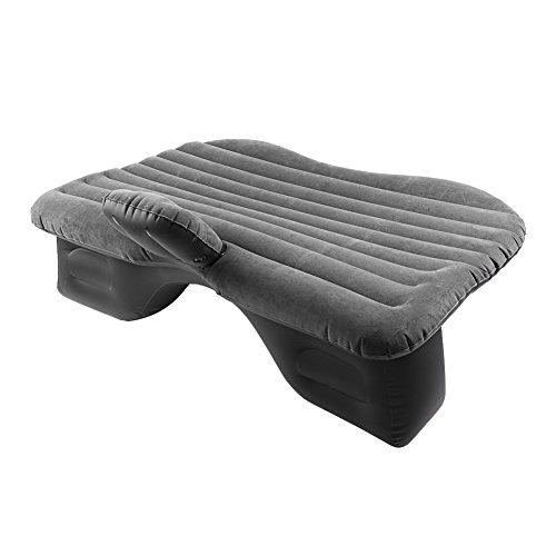 Estink Auto aufblasbares Bett, Universal SUV Luftmatratze Rücksitz Beflockt Dickere Matratze Auto Doppelbett Luftmatratze Kostenlose mit Pumpe (Schwarz)