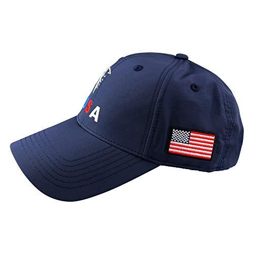 PINMEI Golf Hat Men's Golf Caps USA&Eagle Adjustable Hat Cap (Dark Blue)
