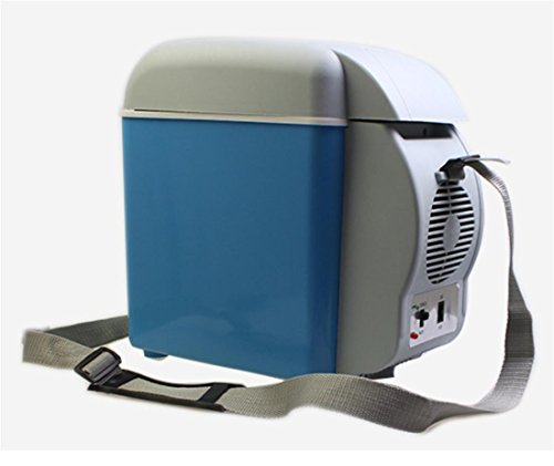 AMYMGLL Portable 7.5L mini voiture réfrigérateur réfrigéré frais chauffage extérieur boîte tension 12V voiture 220V maison puissance 48 (W) poids 2.5kg taille 30.5 * 25 * 16cm