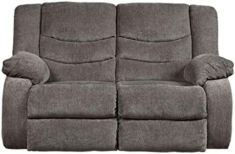 Best Signature Design by Ashley Tulen Reclining Loveseat Gray