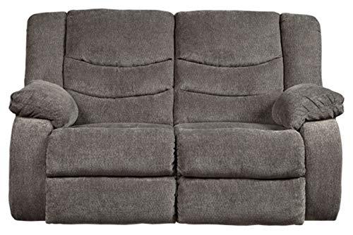 Signature Design by Ashley Tulen Reclining Loveseat Gray