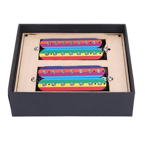 Pastilla, apariencia coloreada Guitarra eléctrica doble de 7 cuerdas para guitarra eléctrica para guitarra