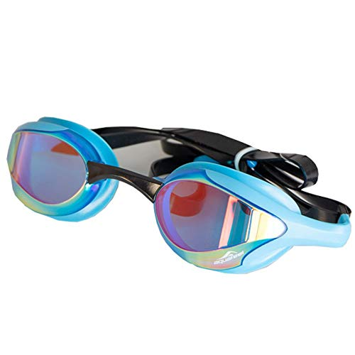 Aquafeel Schwimmbrille Leader Mirrored hell blau 99.98