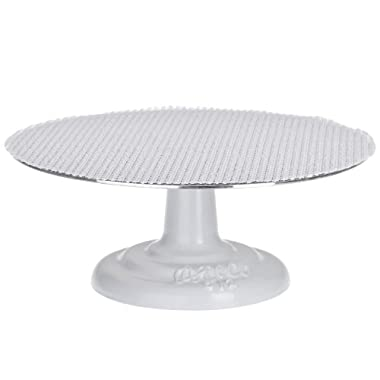 Ateco 612 Revolving Cake Decorating Stand, 12  Round, Cast Iron Base with 1/8  Aluminum Top