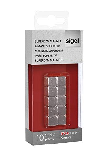 Sigel GL193 - Imanes de neodimio C5 para pizarra de cristal magnética...