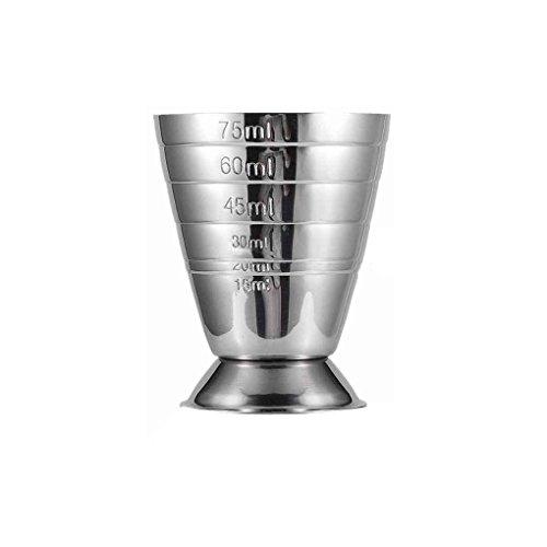 Windy5 75ML Acciaio Inox Scala di misurazione Jigger Cocktail Bere del Vino Shaker Bar Bar Cup Tumblerful Acquasantiera