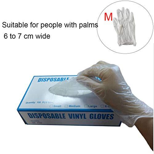 Newwyt Guanti usa e getta in PVC trasparente senza polvere, guanti protettivi per la...