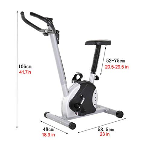 Geteah - Bicicleta estática para interiores con calorías, pantalla de tiempo de ejercicio