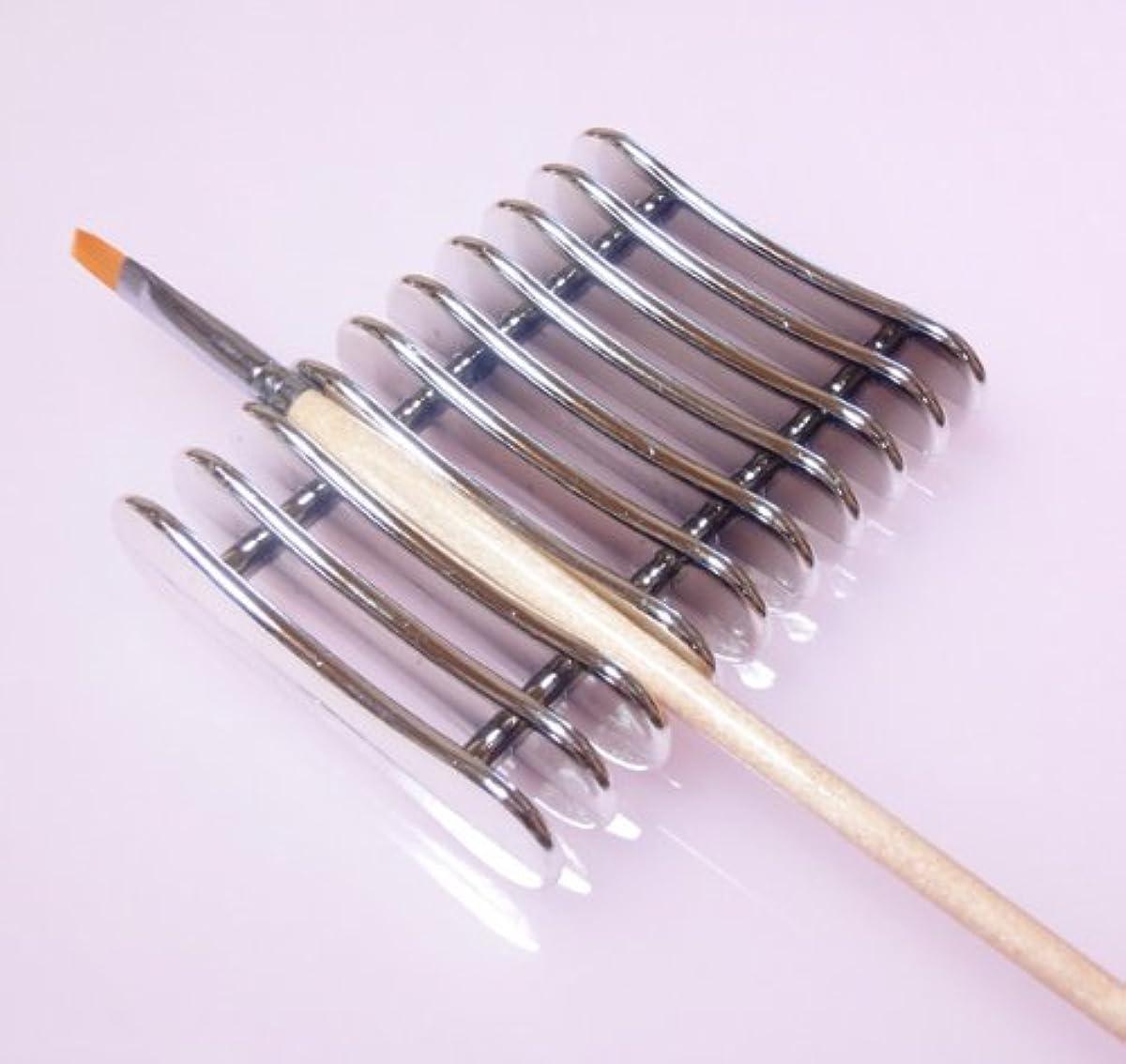 逃れる味わう追い出すネイルブラシホルダー ブラシスタンド ジェルネイル筆置き ネイル用品