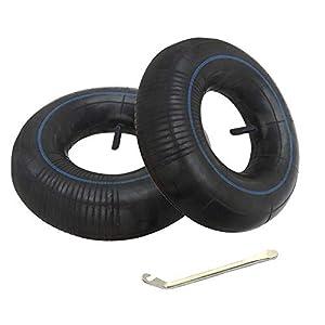 Homo Trends 2 piezas Tubos interiores 3.50-8 Válvula recta de carretilla con palanca de neumáticos para carretilla Sack Truck Sack Ruedas de carretilla