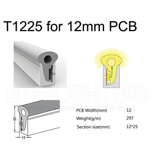 BTF-LIGHTING 3m Rand Beleuchtung LED Neon Rope Tube für WS2812B 5630 2835 5050 Flexible Streifen Licht Silikagel Flex Weiche Wasserdichte Lampe Rohr IP67 (Enthält NICHT LED Streifen)