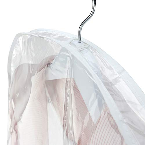 Hangerworld Pack of 5 Large Clear Shoulder Covers - Protect Clothes from Dust, Dirt & Marking - Gusseted