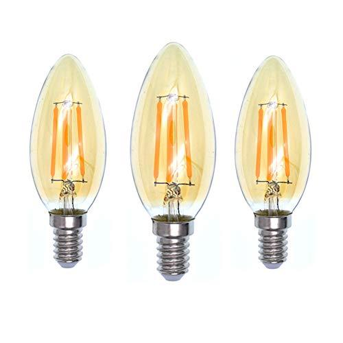 Ruankenshop Lampadina Vintage LED Lampadina Vintage Lampadina a Vite Piccola E14 Lampadina Edison Lampadina E14 Lampadine a Candela a LED 1,4w