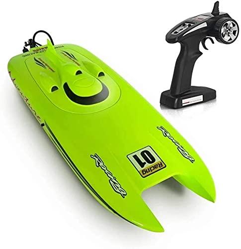 Barca di controllo remoto, barca RC per piscine e laghi con 2,4 Ghz 30 km / h ad alta velocità, recupero di capsule, promemoria a batteria