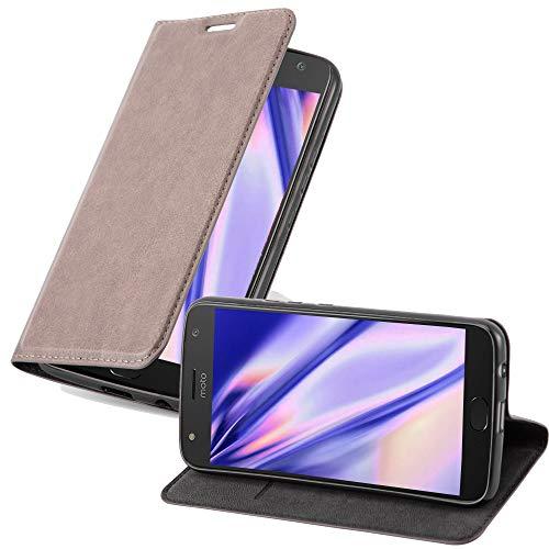 Cadorabo Hülle für Motorola Moto X4 - Hülle in Kaffee BRAUN – Handyhülle mit Magnetverschluss, Standfunktion & Kartenfach - Case Cover Schutzhülle Etui Tasche Book Klapp Style