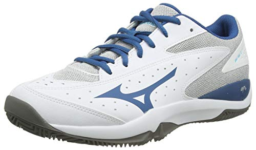 Mizuno Wave Flash CC, Zapatos de Tenis Unisex Adulto, Blanco/Bsapphire/Qshade, 47 EU