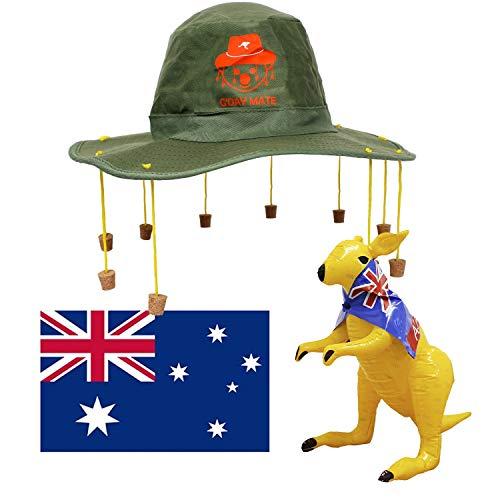 I LOVE FANCY DRESS LTD Disfraz DE Australiano Conjunto TEMATICO para Adulto DE Sombrero, KANGURU Inflable Y Bandera Australiana