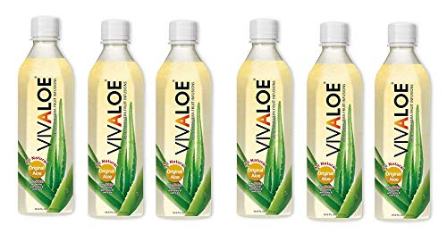 6 confezioni di Energy Drink VIVALOE 100% Aloe Naturale 50cl 11 KCal