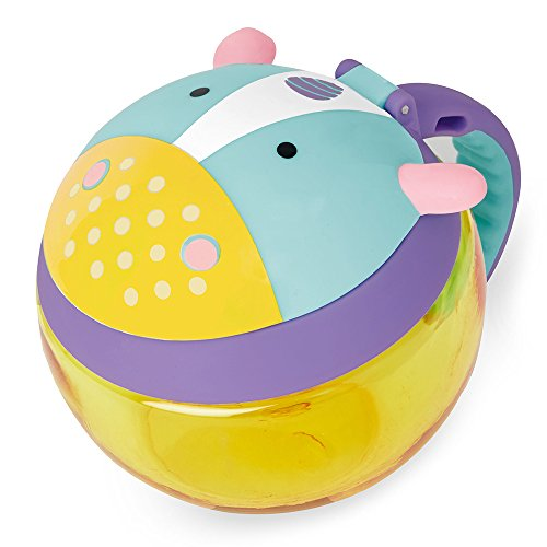 Skip Hop Zoo Snackcup, Snackbox, Aufbewahrungsbehälter für Kinder, mehrfarbig, Einhorn Eureka