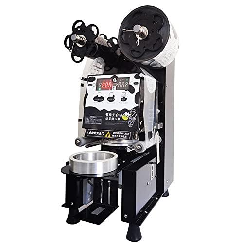 ZLH Máquina de Sellado de Taza Manual Máquina de sellador de Taza de té de Leche eléctrica para 200 mm de Altura y 88 mm / 90 mm / 95 mm de diámetro 350-500 Tazas/Hora