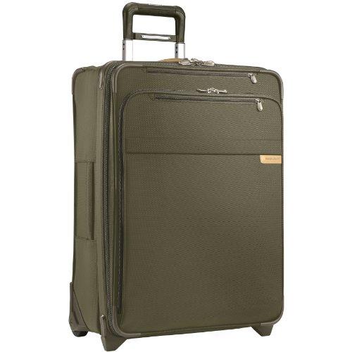 Briggs & Riley Baseline-Softside CX Expandable Medium Checked Upright Luggage, Olive, 25-Inch