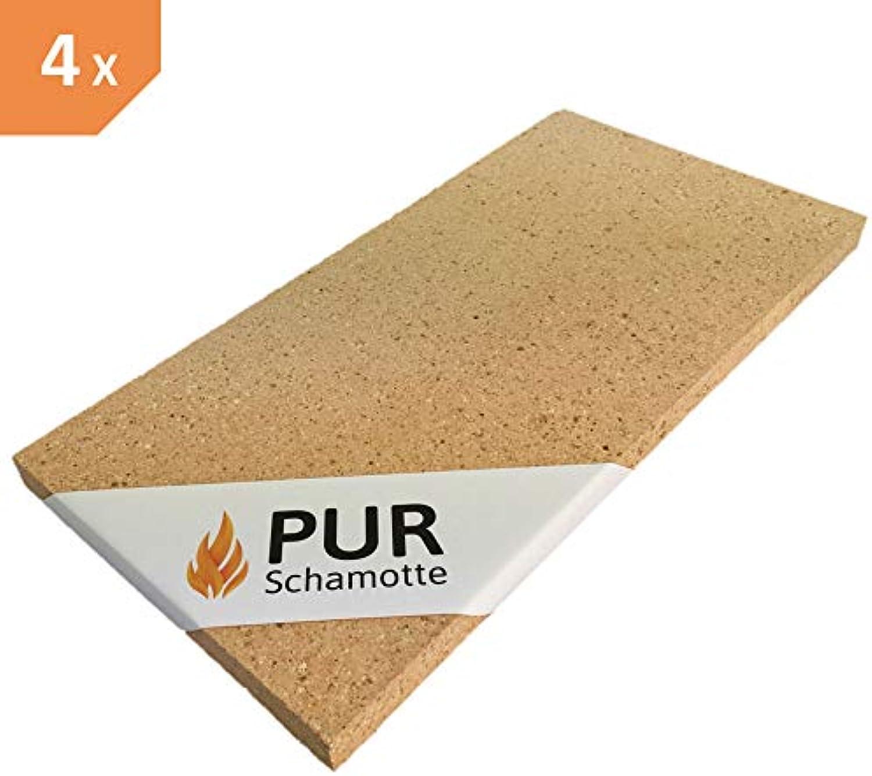 PUR Schamotte Schamotteplatte 400x200x30mm 4 Stück
