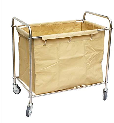 Dljyy Cart, Medical Cart, eetwagen, recoger, Commecial wasmand soort wagen met grote wiel, kamerservice beddengoed trolley voor restaurant hotel loby, blauw