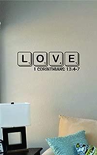 JS Artworks Love Letters 1 Corinthians 13:4-7 Vinyl Wall Art Decal Sticker